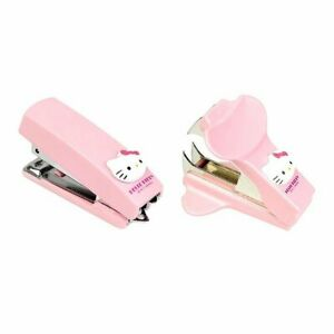 2 in 1 Sanrio Hello Kitty Pink Mini Portable Stapler Staple Remover Set