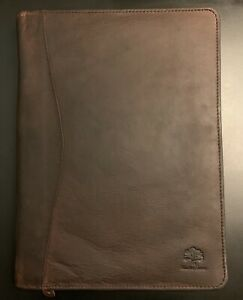 Rustic Town Business Leather Portfolio Padfolio Letter Pad Size Large Brown