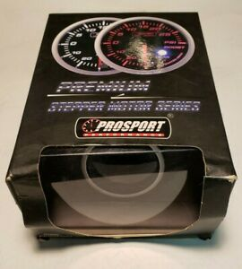 Prosport 52mm Oil Pressure Gauge With Sender Green White