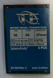Sybronendo Tf Twisted Nickel Titanium Rotary File Size 30 Taper 06 Length 27mm