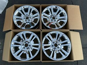 22 Sierra Denali Yukon Factory Silverado Oem Chrome Wheels Chevy Genuine Tahoe