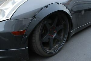 Universal Fender Flares Lb over wide Body Wheel Arches 2 5 Inch 4pcs Flexible Pp
