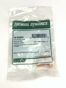 Genuine Thermal Dynamics Cutmaster 42 20 35 Amp Tip 9 0091 5 Pack