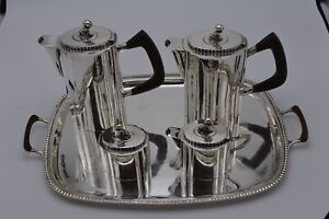 Mexican Sterling Silver Tea And Coffee Set With Tray