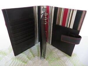 Compact 1 Rings Franklin Covey Red Cowsuede Planner Binder Magnetic Snap