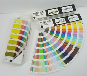 Pantone Formula Guides Solid Coated Uncoated Color Reference Vanson Swatch Set