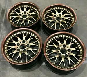 Bmw E28 M5 E24 M6 E30 M3 E39 530i Oem Rs740 Style 42 17x8 Wheels Rims Bbs Gold