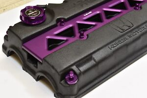 Vms Purple Engine Dress Up H22 Prelude Valve Cover Insert Washer Seal Nut Topper