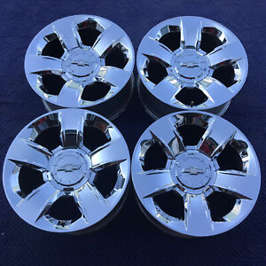 4 20 Chevy Silverado Suburban Tahoe Factory Denali Chrome Oem Wheels Rim 5651
