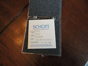 Schott Ng 4 25 40mm Dia 0 91mm Thickness Optical Filter Y126855