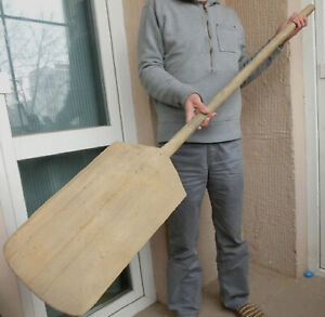 58 Oversized Old Antique Wooden Bakery Dough Bread Board Pizza Peel 20 Paddle