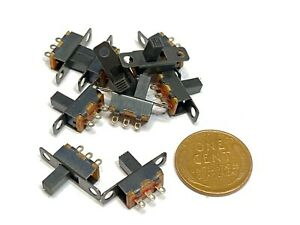 10 Pieces Ss12f15g6 On off 2 Position 1p2t Spdt Panel Mini Slide Switch C12