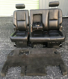 2007 2014 Chevy Tahoe Gmc Yukon Black 2nd Second Row Bench Seat Power Fold