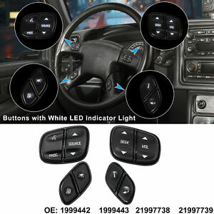 4pcs Steering Wheel Switch Control Buttons For Chevy Silverado For Gmc Yukon