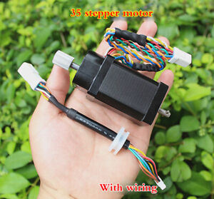 1pcs 35stepper Motor With Dual Induction Hall Sensor Two phase Four wire Encoder