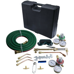 Gas Flame Welding Cutting Kit Oxygen Acetylene Brazing For Victor Hose Handle