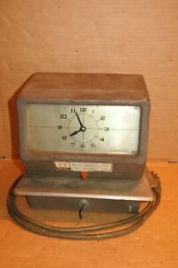 Vintage Simplex Time Recorder Punch Clock Model Jcp1r3