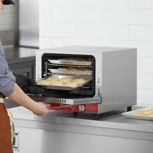 New 1 4 Size Commercial Restaurant Countertop Electric Convection Oven 120 Volt