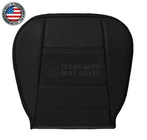 2002 2003 Ford Mustang V6 Coupe Passenger Side Bottom Leather Seat Cover Black