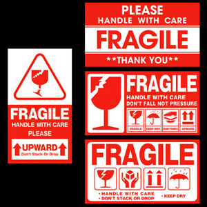 100pcs Fragile Stickers Handle With Care Thank You Warning Label Tag Packaging