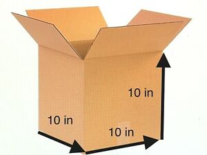 New 10 X 10 X 10 Packing Shipping Mail Corrugated Cardboard Boxes 50 Bundle