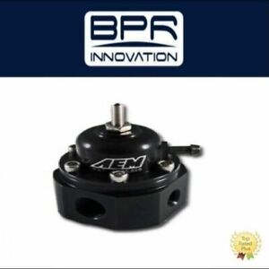 Aem Black Adjustable Fuel Pressure Regulator Universal 25 302bk