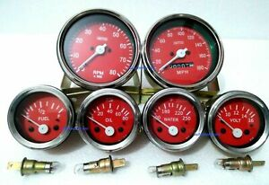 Smiths Replica Kit Elec Temp Oil Fuel Amp Gauge speedometer tacho 85 Mm