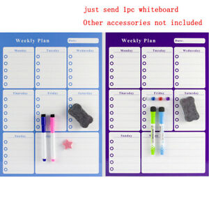 Magnetic Whiteboard Magnet Fridge Refrigerator To do List Monthly Daily Planner