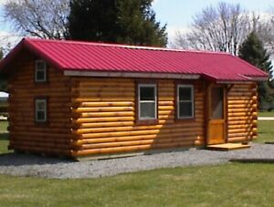 Amish Built Solid Pine cedar Dry Log Cabin Great For Off The Gridders