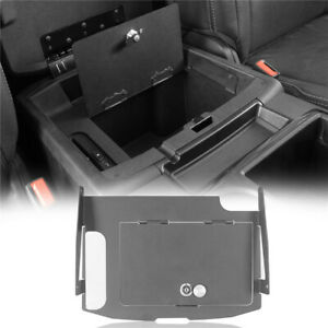 Lockable Center Console Security Insert Plate Cover For 2009 2018 Dodge Ram 1500