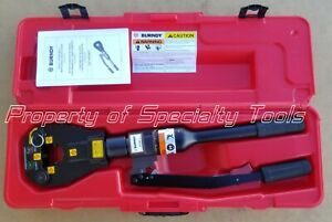 Burndy Y81kft Hydraulic Manual Operated Dieless Crimper Crimping Tool Excellent