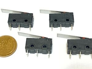 4 X Kw12 c Kw12 Long Arm Lever Limit Switches Straight Hinge Type Spdt Micro C23