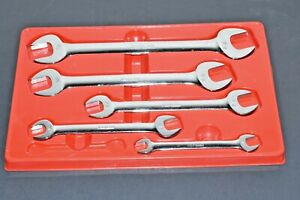 Snap On Chrome 15 Offset Angle Head 3 8 15 16 Double Open End Wrench Set