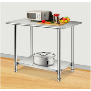 Stainless Steel Working Table 24 x 60 Commercial Kitchen Preparation Table Usa