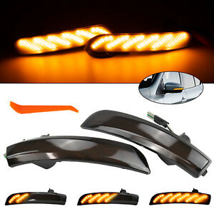 Led Mirror Sequential Dynamic Turn Signal Light 2013 19 For Ford Kuga Ii Escape