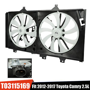 Dual Condenser Cooling Radiator Fan For 2012 2017 Toyota Camry 2 5l L4 Engine