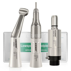 Nsk Style Dental Low Speed Handpiece Kit Straight contra Angle air Motor 2holes
