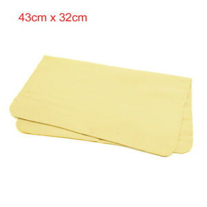 Absorbent Synthetic Drying Chamois Towel Car Auto Wash Cleaning Cloth Yellow