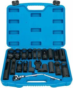 21pc Automotive Master Oxygen O2 Sensor And Special Sending Unit Socket Set Us
