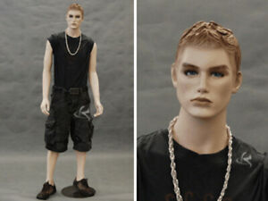Realistic Male Mannequin With Molded Hair md km26f