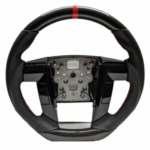 Custom Real Carbon Fiber For 2009 2014 Ford F150 Steering Wheel W Black Leather