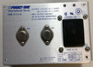 Power One Hbb15 1 5 a Power Supply 100 240 Volt Input 12 15 Amp Output