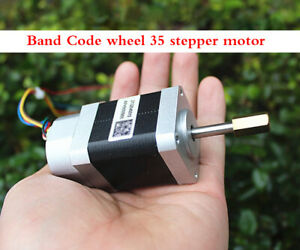 Encoder 35 Stepper Motor Two phase 4 Wire Band Code Wheel Step Angle 1 8