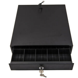 New Cash Register Drawer Box Works Compatible With 4 Bill 5 Coin Pos Sales