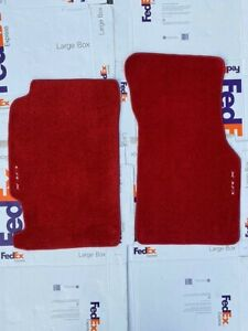 Fit For Crx Del Sol Tailored Custom Floor Mats Carpet Red 1993 1994 Pack Of2