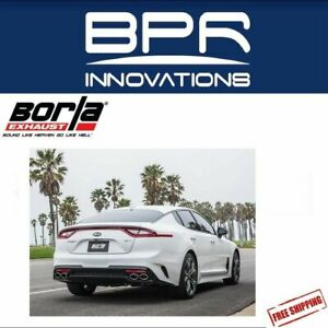 Borla Cat Back Exhaust S Type For 2018 2019 Kia Stinger 3 3l V6 140736