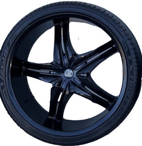 Black Set Of Four 26 Inch 2 Crave Rims And Brand New Lexani Tires Hot Deal