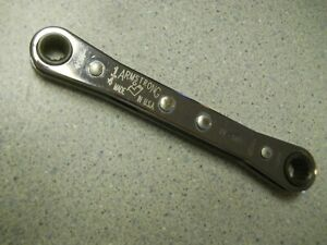 Armstrong 27 588 1 4 X 5 16 Ratchet Box Wrench 12 Point Vtg Usa
