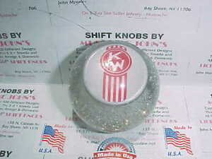 Crooked Kw Kenworth Glitter Shift Knob 60 s 70 s Roadway Style clear