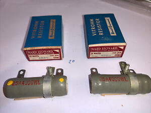 Ward Leonard 4000ohm 25 Watt Wirewound Adjustable Resistor New Pack Of 2 Box